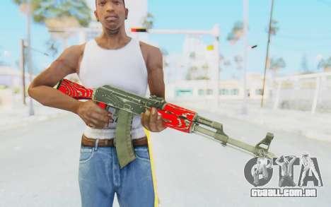 CS:GO - AK-47 Laminate Red para GTA San Andreas terceira tela