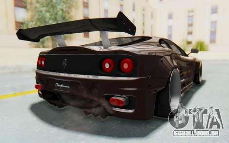 Ferrari 360 Modena Liberty Walk LB Perfomance v1 para GTA San Andreas vista direita
