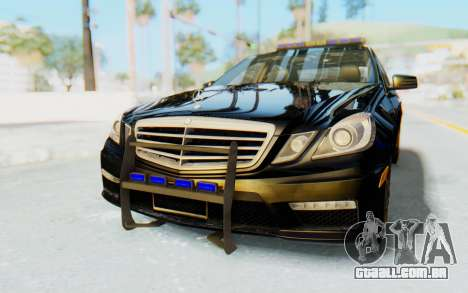 Mercedes-Benz E63 German Police Blue para GTA San Andreas
