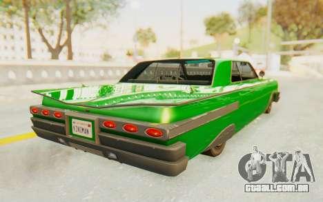 GTA 5 Declasse Voodoo SA Lights para GTA San Andreas esquerda vista