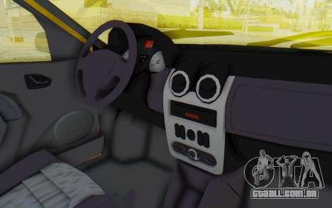 Dacia Logan Taxi para GTA San Andreas vista interior