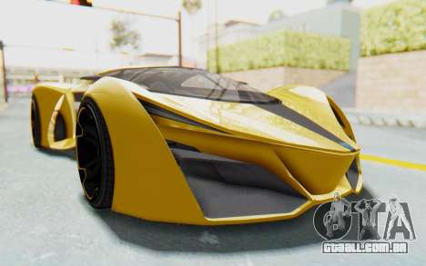 GTA 5 Grotti Prototipo v2 IVF para GTA San Andreas vista traseira