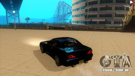 Elegy Bushido para GTA San Andreas esquerda vista