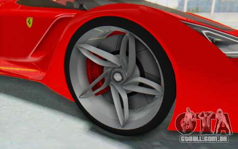 Ferrari F80 Concept 2015 Beta para GTA San Andreas vista traseira
