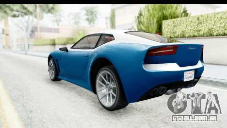 GTA 5 Lampadati Furore GT SA Lights para GTA San Andreas esquerda vista
