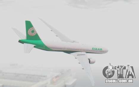 Boeing 777-300ER Eva Air v3 para GTA San Andreas esquerda vista