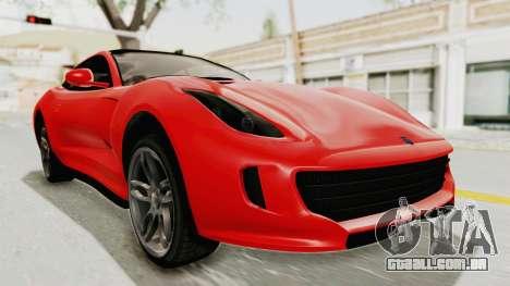 GTA 5 Grotti Bestia GTS v2 IVF para GTA San Andreas vista direita