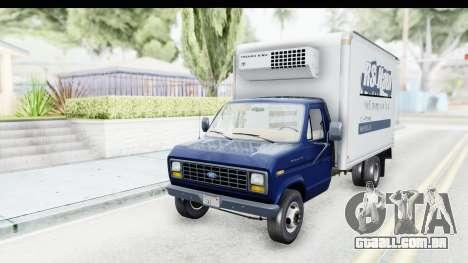 Ford E-350 Cube Truck IVF para GTA San Andreas traseira esquerda vista