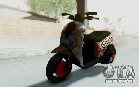 Honda Scoopyi Modified para GTA San Andreas traseira esquerda vista