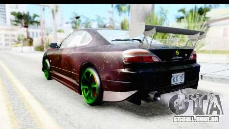 Nissan Silvia S15 Galaxy Drift v2.1 para GTA San Andreas esquerda vista