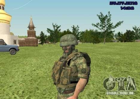 Corpo De Fuzileiros Navais Lutador para GTA San Andreas por diante tela