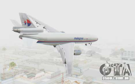 DC-10-30 Malaysia Airlines (Old Livery) para GTA San Andreas esquerda vista