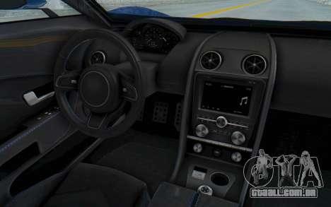GTA 5 Vapid FMJ para GTA San Andreas vista interior