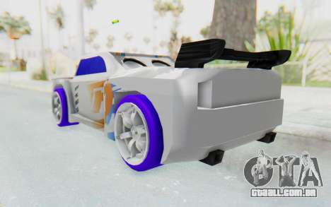Hot Wheels AcceleRacers 3 para GTA San Andreas traseira esquerda vista