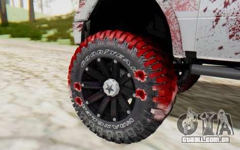 Ford F-150 ROAD Zombie para GTA San Andreas traseira esquerda vista
