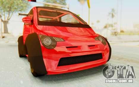 GTA 5 Benefactor Panto Custom para GTA San Andreas traseira esquerda vista