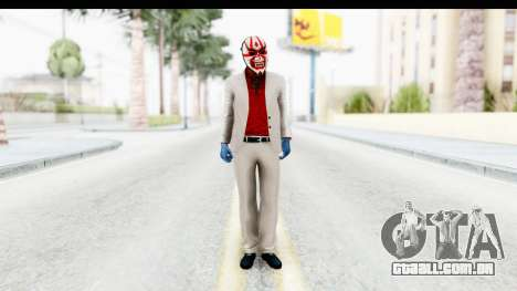Payday 2 - Jiro with Mask para GTA San Andreas