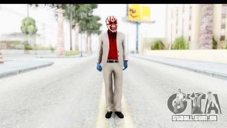 Payday 2 - Jiro with Mask para GTA San Andreas segunda tela