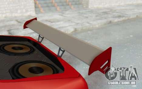 Elegy GT v1 para GTA San Andreas vista superior