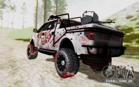 Ford F-150 ROAD Zombie para GTA San Andreas esquerda vista