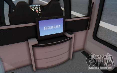 GTA 5 Buckingham Volatus v1 IVF para GTA San Andreas vista traseira
