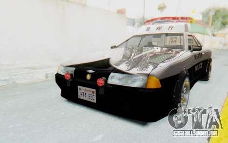 Elegy Japanese Police para GTA San Andreas traseira esquerda vista