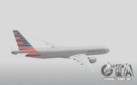 Boeing 777-300ER American Airlines N727AN para GTA San Andreas vista direita
