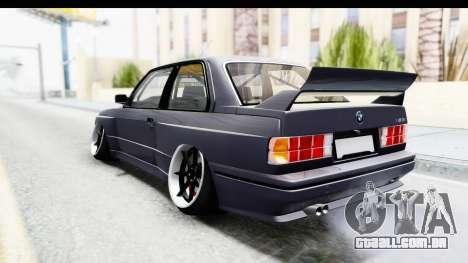 BMW M3 E30 2015 JDM para GTA San Andreas esquerda vista