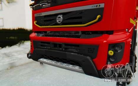 Volvo FMX 6x4 Dumper v1.0 para GTA San Andreas vista interior