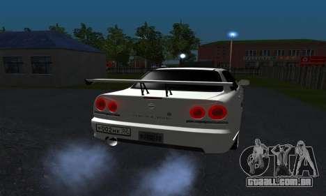 Nissan Skyline ER34 GT-R para GTA San Andreas vista direita