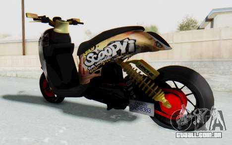 Honda Scoopyi Modified para GTA San Andreas esquerda vista