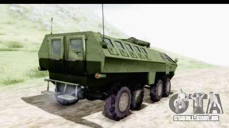 Lazar Serbian Armored Vehicle para GTA San Andreas esquerda vista