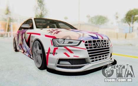 Audi S4 Avant Yurippe Angel Beats Itasha para GTA San Andreas vista traseira