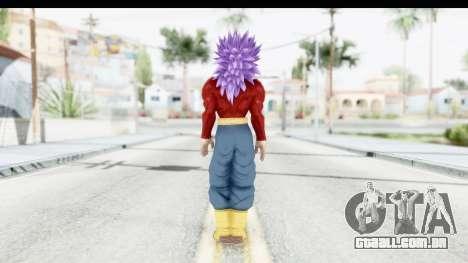 Dragon Ball Xenoverse Future Trunks SSJ4 para GTA San Andreas terceira tela
