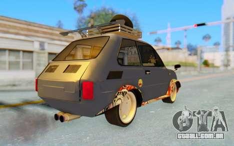 Fiat 126 para GTA San Andreas traseira esquerda vista