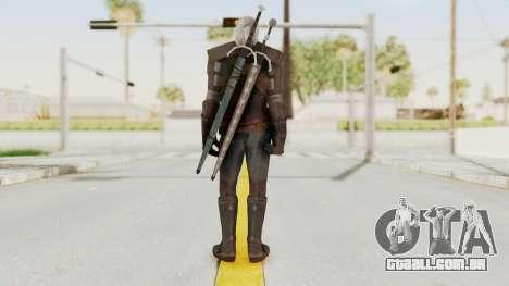 The Witcher 3: Wild Hunt - Geralt of Rivia para GTA San Andreas terceira tela
