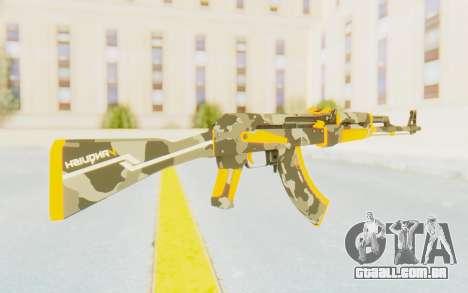 CS:GO - AK-47 Vanquish para GTA San Andreas terceira tela