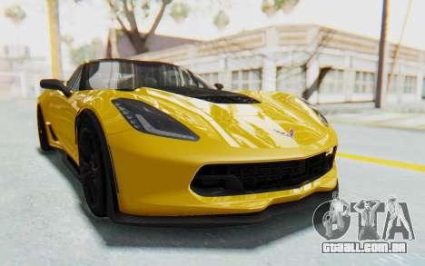 Chevrolet Corvette C7.R Z06 2015 para GTA San Andreas vista traseira