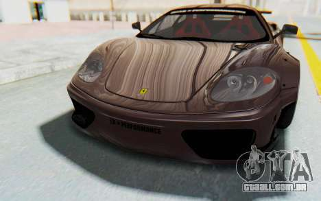 Ferrari 360 Modena Liberty Walk LB Perfomance v1 para GTA San Andreas interior
