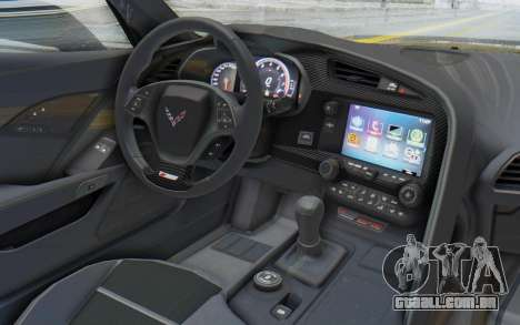 Chevrolet Corvette C7.R Z06 2015 para GTA San Andreas vista direita