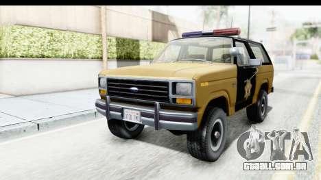 Ford Bronco 1982 Police IVF para GTA San Andreas