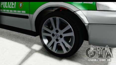 Opel Astra G Variant Polizei Bayern para GTA San Andreas vista traseira