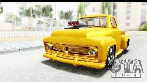 GTA 5 Vapid Slamvan without Hydro para GTA San Andreas traseira esquerda vista