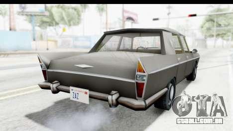 Simca Vedette from Bully para GTA San Andreas traseira esquerda vista