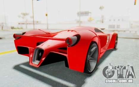 Ferrari F80 Concept 2015 Beta para GTA San Andreas vista direita
