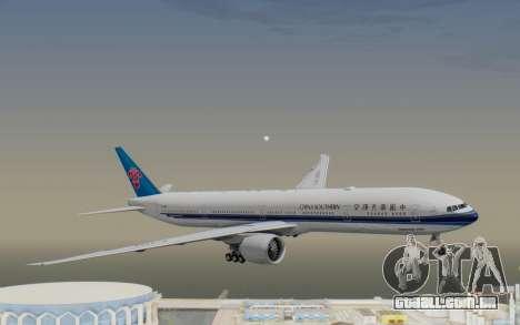 Boeing 777-300ER China Southern Airlines para GTA San Andreas traseira esquerda vista