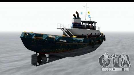 GTA 5 Buckingham Tug Boat v1 IVF para GTA San Andreas esquerda vista