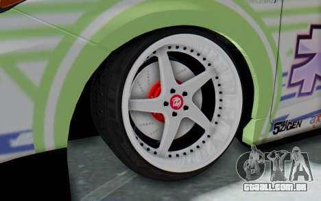 Toyota Prius Hybrid 2011 Hellaflush IF Itasha para GTA San Andreas vista traseira