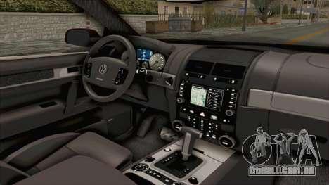 Volkswagen Passat B6 Variant para GTA San Andreas vista interior