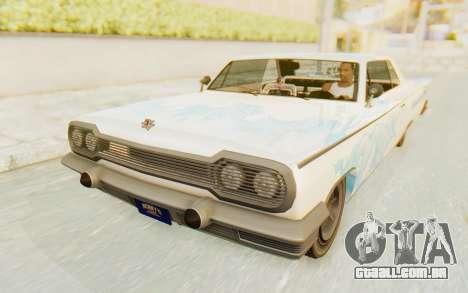 GTA 5 Declasse Voodoo SA Lights para as rodas de GTA San Andreas